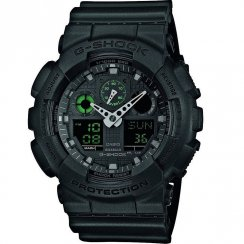 Casio G-Shock Dual Display Chrono Black Strap Gents Watch GA-100MB-1AER