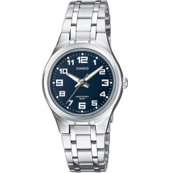 Casio Collection Blue Dial Stainless Steel Bracelet Ladies Watch LTP-1310PD-2BVEF