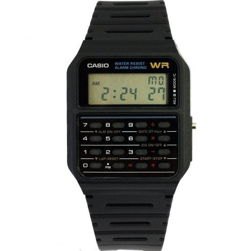 Casio Collection Calculator Digital Chronograph Black Resin Strap Watch Ca 53w 1er
