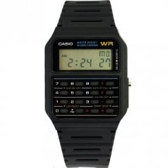 Casio Collection Calculator Digital Chronograph Black Resin Strap Watch CA-53W-1ER