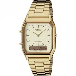 Casio Collection Chronograph Champagne Dial Gold Bracelet Gents Watch AQ-230GA-9DMQYES