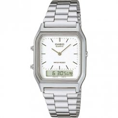 Casio Collection Chronograph White Dial Chrome Bracelet Gents Watch AQ-230A-7DMQYES
