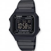 Casio Collection Digital Chronograph Black Dial Black Bracelet Watch B650WB-1BEF