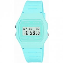 Casio Collection Digital Chronograph Blue Resin Strap Ladies Watch F-91WC-2AEF