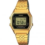 Casio Collection Digital Chronograph Gold Bracelet Gents Watch LA680WEGA-1ER