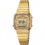 Casio Collection Digital Chronograph Gold Bracelet Ladies Watch LA670WEGA-9EF