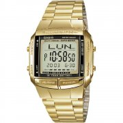Casio Collection Digital Chronograph Gold Bracelet Mens Watch DB-360GN-9AEF