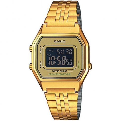 Casio Collection Digital Chronograph Gold Bracelet Mens watch LA680WEGA-9BER
