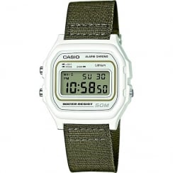 Casio Collection Digital Chronograph Green Nylon Strap Gents Watch W-59B-3AVEF
