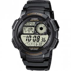 Casio Collection Digital chronograph resin strap Mens watch AE-1000W-1AVEF