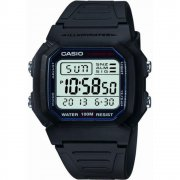 Casio Collection Digital Chronograph resin strap Mens watch W-800H-1AVES
