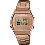 Casio Collection Digital Chronograph Rose Gold Bracelet Unisex Watch B640WC-5AEF