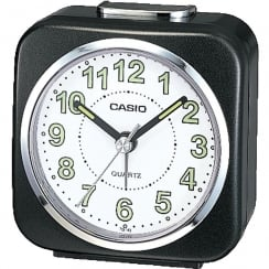 Casio Collection Wake Up Timer White and Black Alarm Clock TQ-143S-1EF