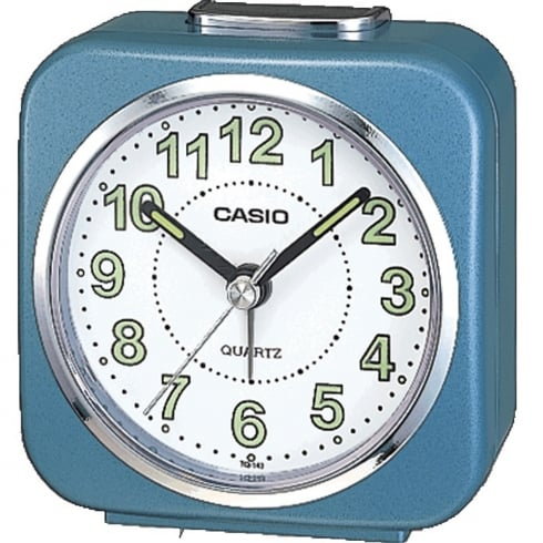 Casio Collection Wake Up Timer White and Blue Alarm Clock TQ-143S-2EF