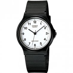 Casio Collection White Dial Black Resin Strap Unisex Watch MQ-24-7BLL