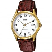 Casio Collection White Dial Brown Leather Strap Gents Watch MTP-1188PQ-7BEF