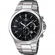Casio Edifice black dial chronograph stainless steel bracelet Mens watch EFR-500D-1AVDR