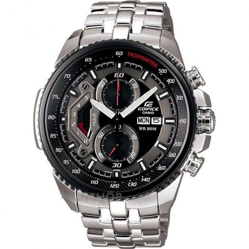 Casio Edifice Chronograph Black Dial Stainless Steel Bracelet Gents Watch EF-558D-1AVEF