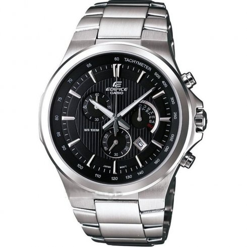 Casio Edifice Chronograph Black Dial Stainless Steel Bracelet Gents Watch EFR-500D-1AVDR