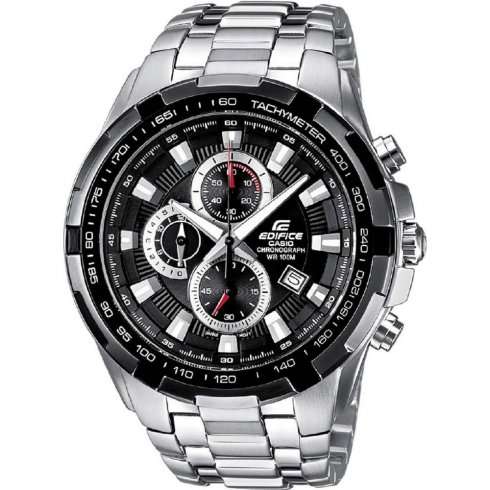 Casio Edifice Chronograph Black Dial Stainless Steel Bracelet Mens Watch EF-539D-1AVEF
