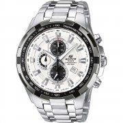 Casio Edifice Chronograph White Dial Chrome Bracelet Gents Watch EF-539D-7AVEF