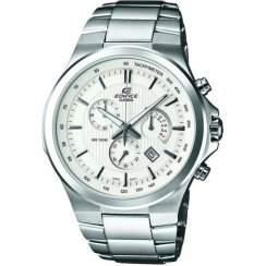 Casio Edifice Chronograph White Dial Stainless Steel Bracelet Gents Watch EFR-500D-7AVDR