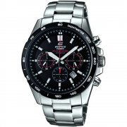 Casio Edifice Solar Chronograph Black Dial Stainless Steel Bracelet Mens Watch EFR-518SB-1AVEF