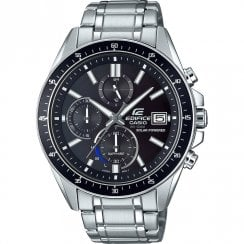 Casio Edifice Solar Chronograph Black Dial Stainless Steel Bracelet Watch EFS-S510D-1AVUEF