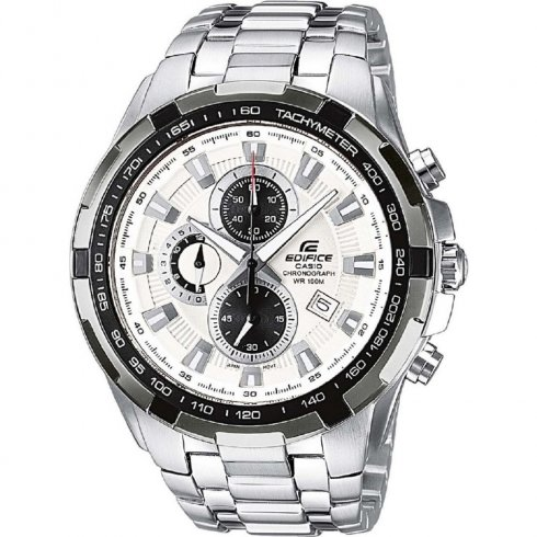 Casio Edifice white dial chronograph stainless steel bracelet Mens watch EF-539D-7AVEF