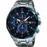 Casio Edifice World Time Blue Dial Chrome Bracelet Gents Watch EFR-539D-1A2VUEF