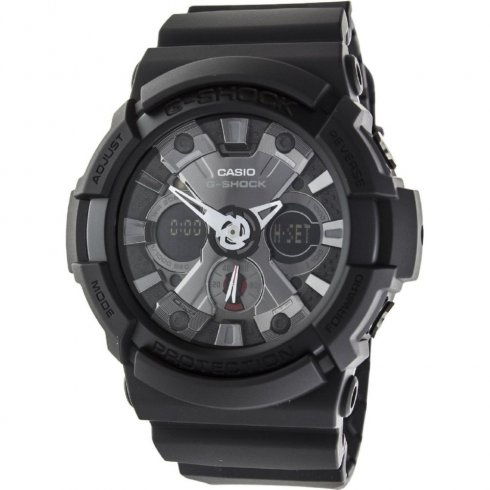 Casio G-Shock black dial chronograph resin strap Mens watch GA-201-1AER
