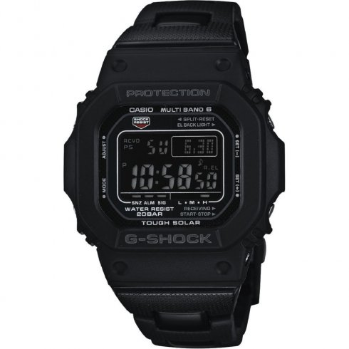 Casio G Shock Black Dial Chronograph Black Stainless Steel Bracelet