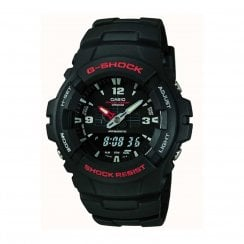 Casio G-Shock Black Dual Display Gents Sports Diving Watch G-100-1BVMES