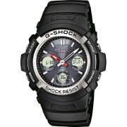 Casio G-Shock Chronograph Black Resin Strap Mens watch AWG-M100-1AER
