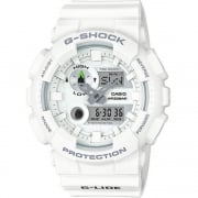 Casio G Shock Chronograph World Time White Resin Strap Gents Watch GAX-100A-7AER