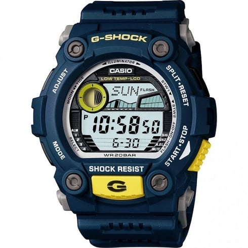 Casio G-Shock Digital Chronograph Blue Resin Strap Gents Watch G-7900-2ER