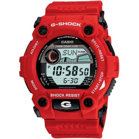 Casio G-Shock Digital Chronograph Red Resin Strap Gents Watch G-7900A-4ER