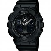 Casio G-Shock Dual Display Chrono Black Strap Gents Watch GA-100-1A1ER