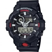Casio G-Shock Dual Display Chrono Black Strap Gents Watch GA-700-1AER