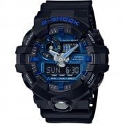 Casio G-Shock Dual Display Chrono Black Strap Gents Watch GA-710-1A2ER