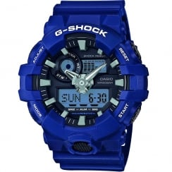 Casio G-Shock Dual Display Chrono Blue Strap Gents Watch GA-700-2AER
