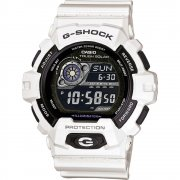 Casio G-Shock Solar Chronograph White Resin Strap Mens Watch GR-8900A-7ER