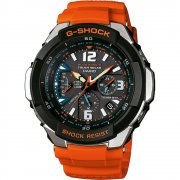 Casio G-Shock Solar Radio Controlled Chronograph Orange Strap Gents Watch GW-3000M-4AER