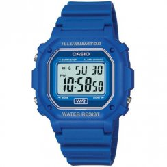 Casio Illuminator Digital Chronograph Blue Resin Strap Mens Watch F-108WH-2AEF