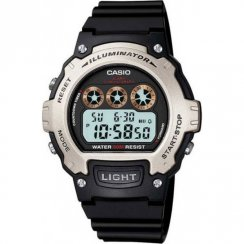 Casio Illuminator lcd dial chronograph resin strap Mens watch W-214H-1AVEF