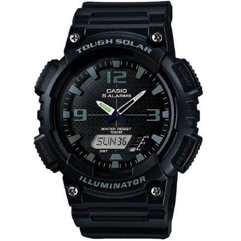 Casio Solar World Timer Black Resin Strap Gents Watch AQ-S810W-1A2VEF