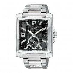 Citizen  black dial stainless steel bracelet Mens watch BV1040-55E