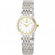 Citizen Mother Of Pearl white dial stainless steel bracelet Ladies watch EW9354-55D