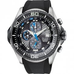 Citizen Perpetual Calendar Chronograph Black Resin Strap Mens Watch BJ2117-01E