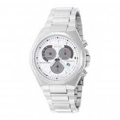 Citizen Perpetual Calendar silver dial chronograph stainless steel bracelet Mens watch BL5410-59A